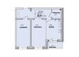 Жилой комплекс КОРИЦА, дом 1: 2-комнатная 58,59 кв.м