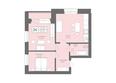 Жилой комплекс Да Винчи, дом 6: 2-комнатная 65,59 кв.м