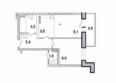 Первый Ленинский квартал, д. 1: 2-комнатная 36,1 кв.м