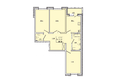 Жилой комплекс КОРИЦА, дом 3: 3-комнатная 81,6 кв.м.