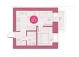 Арбан SMART (Смарт) на Шахтеров, д 1: Планировка двухкомнатной квартиры 34,4 кв.м