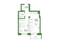 Life (Лайф), дом 1, б/с 1: 1-комнатная 46,61 кв.м