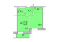 Первый Ленинский квартал, д. 3: 2-комнатная 34,5; 34,6; 34,7 кв.м