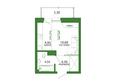 Life (Лайф), дом 2, б/с 3: 1-комнатная 27,37 кв.м
