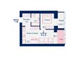 Жилой комплекс SCANDIS (Скандис), дом 11: Планировка двухкомнатной квартиры 43,8 кв.м