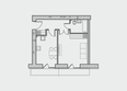 Жилой комплекс ПРЕОБРАЖЕНСКИЙ, дом 4: Планировка однокомнатной квартиры 44 кв.м