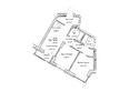 ГУДИМОВ: Планировка трехкомнатной квартиры 60,8 кв.м
