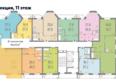 ПРИБРЕЖНЫЙ: Планировка типового этажа ЖК Прибрежный, 2 подъезд
