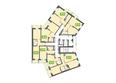 Жилой комплекс МАРСЕЛЬ, 6 этап: Блок-секция 15. Планировка типового этажа