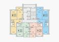 ГРАНД-ПАРК, б/с 2-1: Блок-секция 2-1. Планировка 10-17 этажей