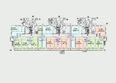Жилой комплекс Комарова-13: Планировка 1 этажа