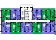 ТИХИЕ ЗОРИ, дом 1 (Красстрой): Блок-секция 2. Этажи 20-25