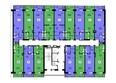 НОВЫЕ ЧЕРЕМУШКИ: Планировка типового этажа, секция 3