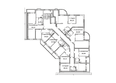 Жилой комплекс ВЕСЕННИЙ, 5 этап, дом 2: Блок-секция 2. Планировка 7-9 этажей