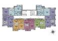 ЦИВИЛИЗАЦИЯ, дом 1, этап 1: Подъезд 2. Планировка типового этажа