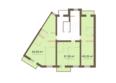 Жилой комплекс Академгородок, дом 1, корп 1: Корпус 1. Подъезд 2. Планировка типового этажа