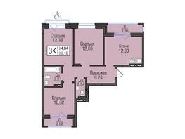 Продается 3-комнатная квартира ЦИВИЛИЗАЦИЯ, дом 1, этап 1.2, 68.41  м², 5472800 рублей
