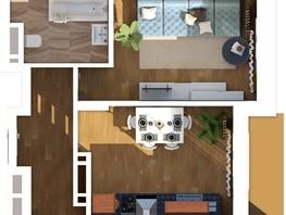 1-комнатная квартира, 36.43  м², 22/24 этаж