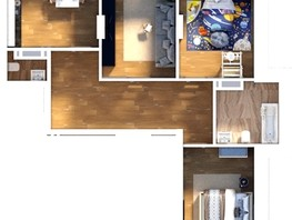Продается 4-комнатная квартира БИРЮЗОВАЯ ЖЕМЧУЖИНА, 83.05  м², 7749063 рублей
