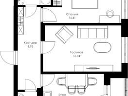 Продается 2-комнатная квартира ГРАНИТ, 58.44  м², 7200042 рублей