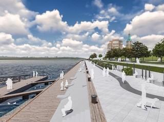 Набережная в районе торгового центра «Красноярье» должна преобразиться в 2021 году