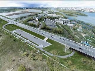 В парке Победы спроектируют съезд с Ленинградского моста со стоянкой и велодорожками
