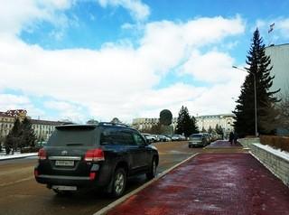 Открыт проезд вдоль здания правительства Бурятии
