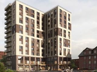 У площади Ленина строится апарт-комплекс со студиями от 2,1 миллиона рублей