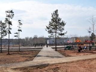 Благоустройство нового парка в Братске завершат в мае
