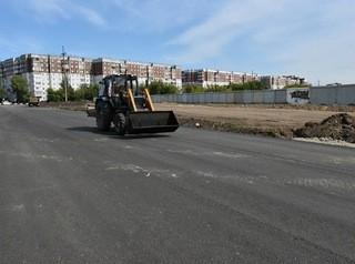 Новый участок улицы Солнечная Поляна наполовину готов