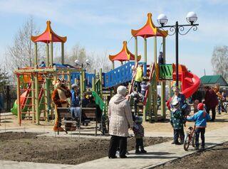 В селе Парабель появился парк для семейного отдыха