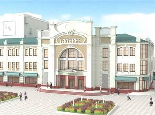 В Омске озеленяют площадку перед театром «Галерка»
