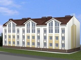 Трехэтажку с двухуровневыми квартирами строят в Индустриальном районе