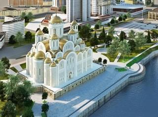 Екатеринбуржцы встали на защиту сквера, где власти собрались построить храм