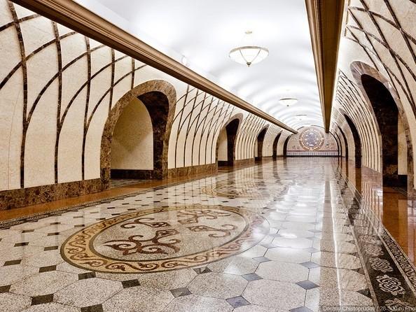 Станция метро «Жибек Жолы» Алматы