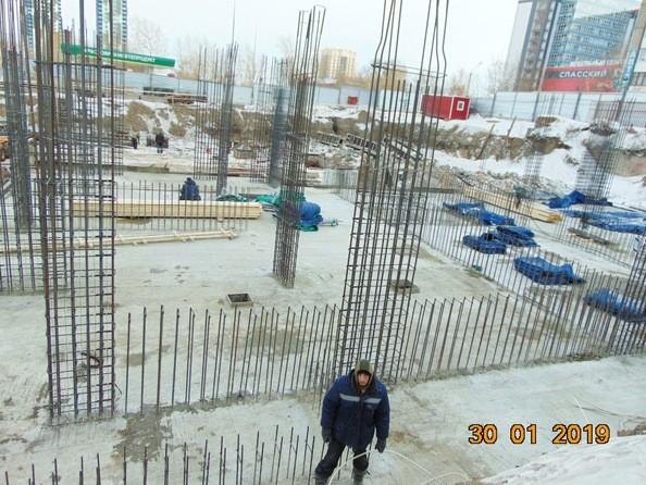 Фото Жилой комплекс FUSION (Фьюжн), Ход строительства 30 января 2019