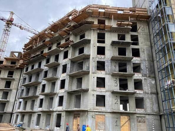 Ход строительства 4 августа 2021. Блок-секция 3