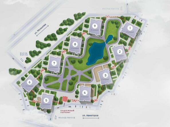 Расположение домов в ЖК «Scandis Ozero»