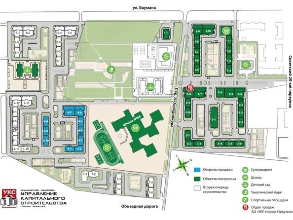 План расположения домов в жилом районе «Эволюция»