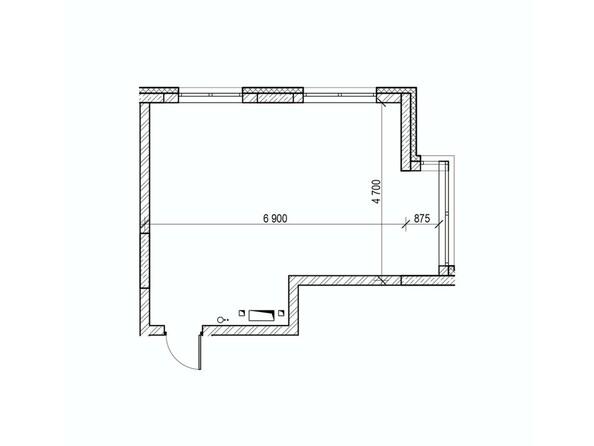 Планировки Жилой комплекс ВЕРХНИЙ БУЛЬВАР, 7 дом, б/с а,б,в - Планировка однокомнатной квартиры 38 кв.м