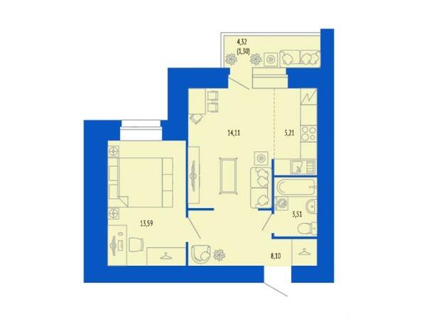 2-комнатная 44.82; 45.83 кв.м