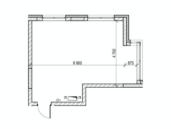 Планировки Жилой комплекс ЮЖНЫЙ, дом «Рубиновый» - Планировка однокомнатной квартиры 37,3 кв.м