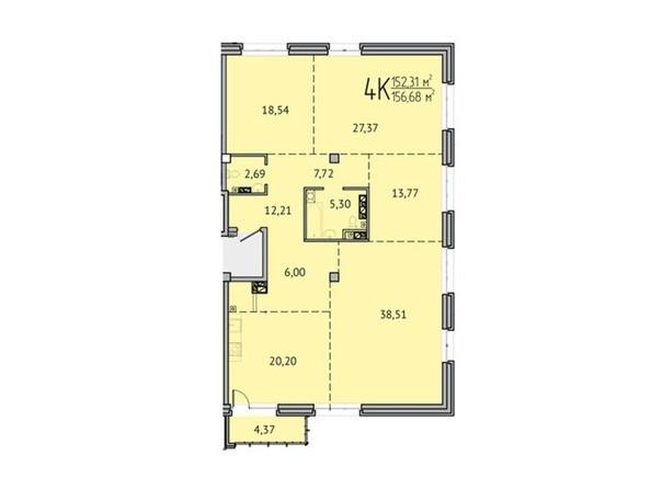 4-комнатная 152,31 кв.м