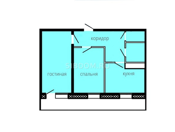 Планировки БОГАТЫРСКИЙ ж/к, 4 б/с - Планировка двухкомнатной квартиры 57,91 кв.м