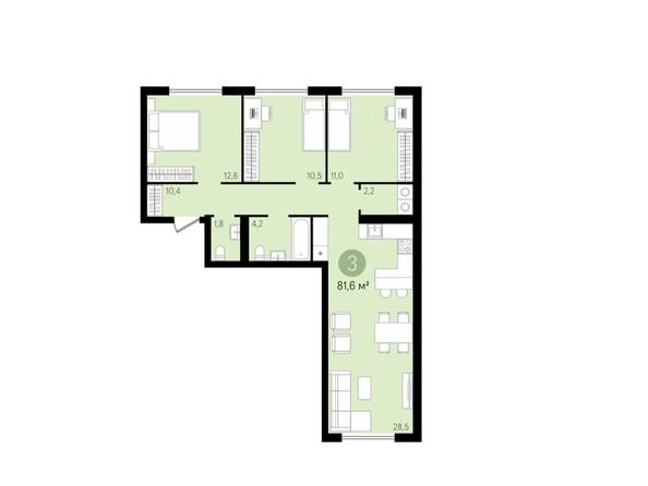 3-комнатная 81,5 кв.м