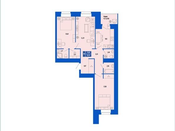 3-комнатная 78.89; 80.4; 81.95 кв.м