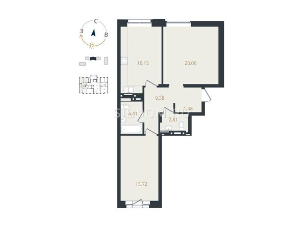 2-комнатная 70,01 кв.м