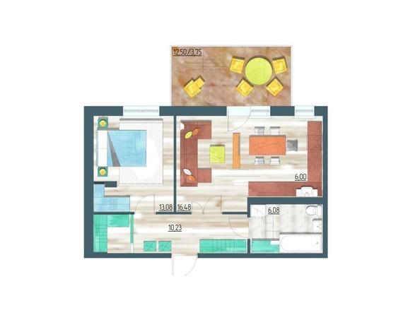 Планировки Жилой комплекс ЖИВЁМ эко-район, 3 квартал, дом 1 - Планировка двухкомнатной квартиры 55,62 кв.м