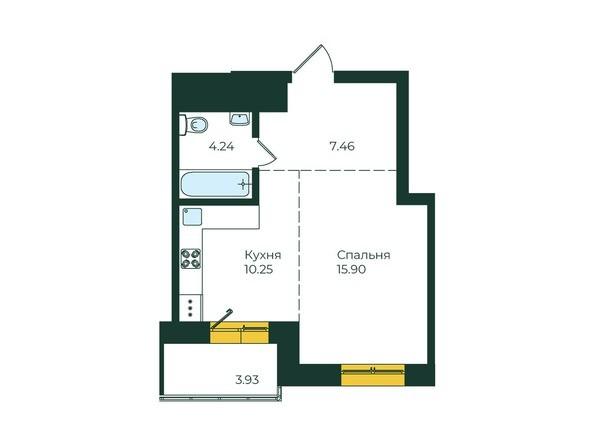 1-комнатная 41,78 кв.м