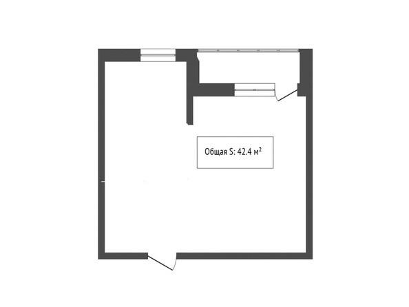 1-комнатная 42.4 кв.м